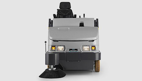 Mach 6 ride on floor sweeper in colour grey