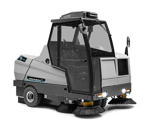 Clean white background of the Mach 8 Floor Sweeper