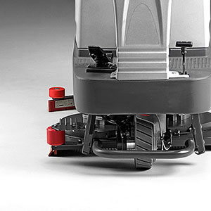 Equipped with reinforcements to withstand impact and endure tough environments Ride on Scrubber Dryer