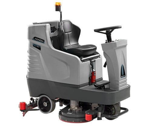 The top-selling M750 Ride On Scrubber Dryer is revolutionising the cleaning world
