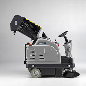 Dump system for Mach 5 Floor Sweeper